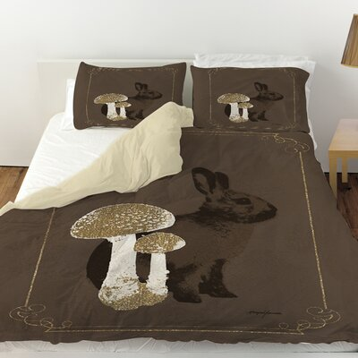 Luxury Lodge Rabbit Duvet Cover Size: King