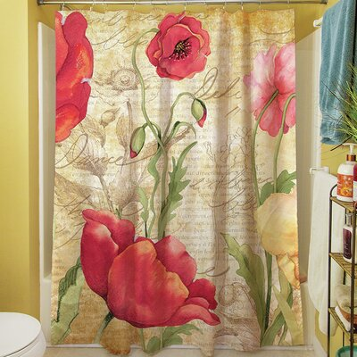 Large Poppy Heads Shower Curtain