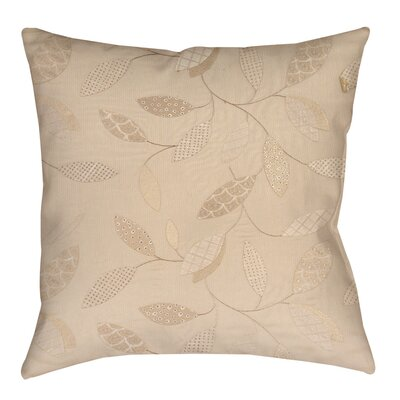 Wasinger Indoor/Outdoor Throw Pillow Size: 18 H x 18 W x 5 D, Color: Taupe