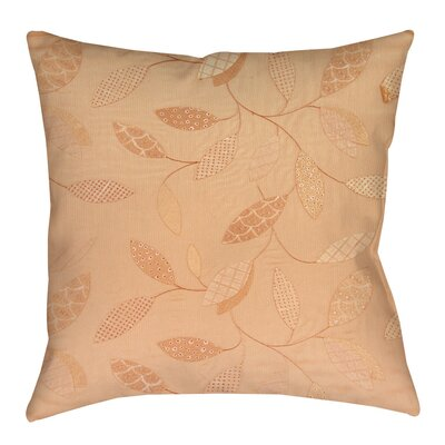 Leaves Narrow Indoor/Outdoor Throw Pillow Size: 18 H x 18 W x 5 D, Color: Salmon