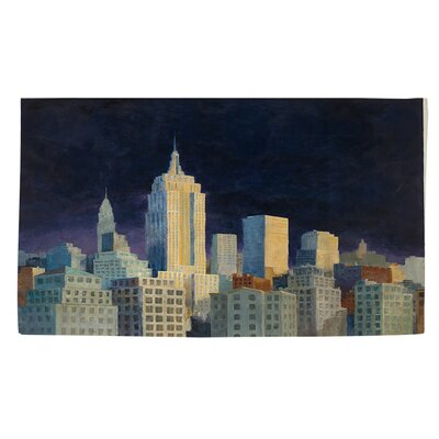 Midnight in Midtown Navy Area Rug Rug size: 4 x 6