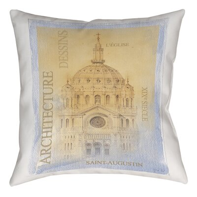 LEglise Printed Throw Pillow Size: 26 H x 26 W x 7 D