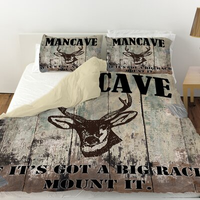 Mancave II Duvet Cover Size: King