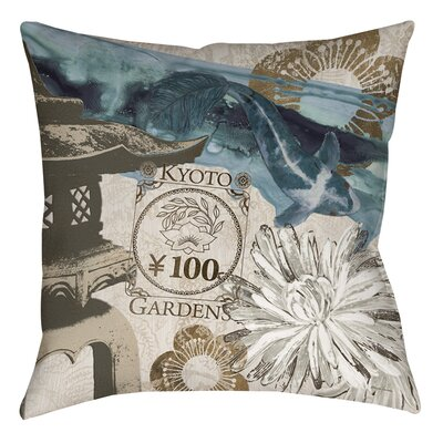 Meditation Gardens 2 Printed Throw Pillow Size: 14 H x 14 W x 3 D