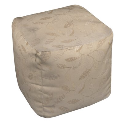 Leaves Narrow Ottoman Upholstery: Taupe