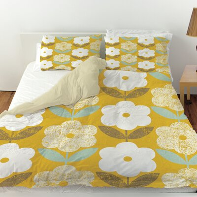 Jar of Sunshine Vintage Blossoms Duvet Cover Size: Twin