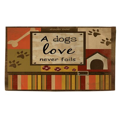 Love Never Fails Brown Area Rug Rug size: 2 x 3