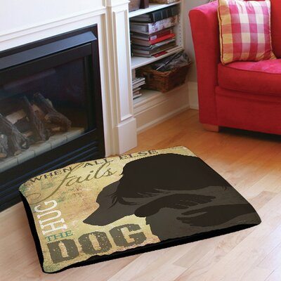 Hug the Dog Indoor/Outdoor Pet Bed Size: 50 L x 40 W