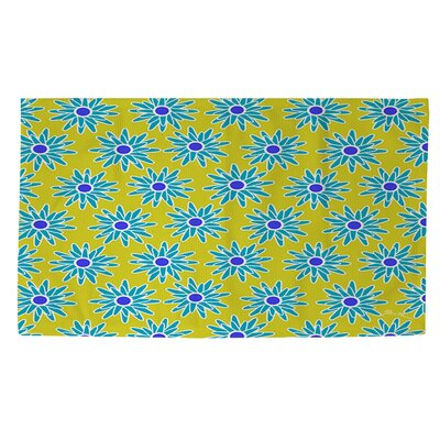 La Roque Summer Starburst Yellow/Blue Area Rug Rug size: 2 x 3