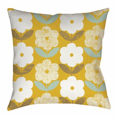 Jar of Sunshine Vintage Indoor/Outdoor Throw Pillow Size: 16 H x 16 W x 4 D