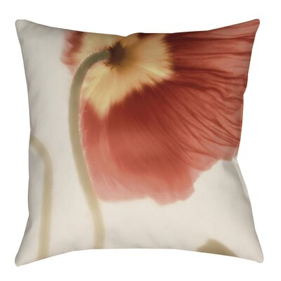 Mystic Poppy 2 Indoor/Outdoor Throw Pillow Size: 18 H x 18 W x 5 D
