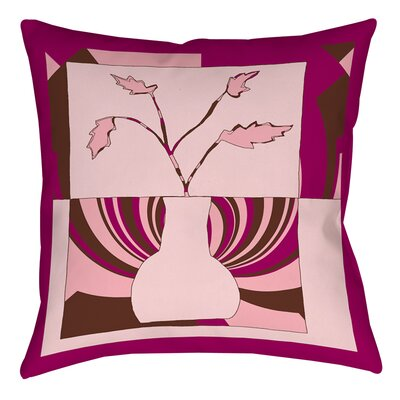 Minimalist Flowers 1 Printed Throw Pillow Size: 26 H x 26 W x 7 D