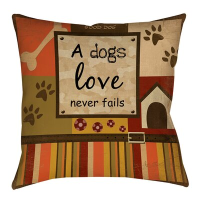 Love Never Fails Indoor/Outdoor Throw Pillow Size: 20 H x 20 W x 5 D