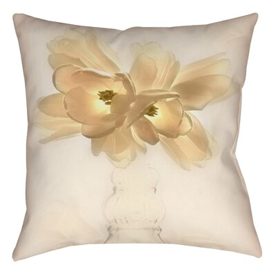 Lovely Tulip Printed Throw Pillow Size: 16 H x 16 W x 4 D