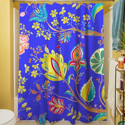 La Roque Summer Floral Shower Curtain