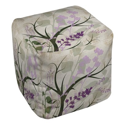 Lavender and Sage Flourish Ottoman