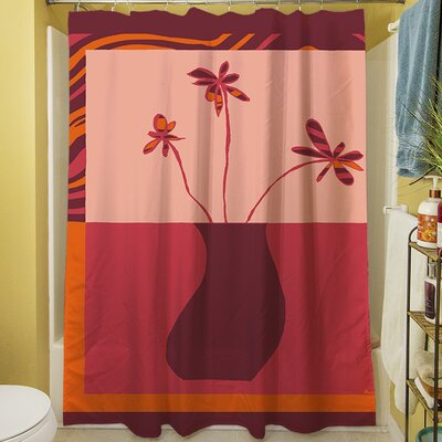Minimalist Flowers III Shower Curtain