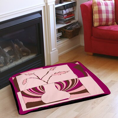 Minimalist Flowers 1 Indoor/Outdoor Pet Bed Size: 50 L x 40 W