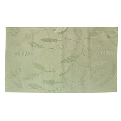 Leaves Narrow Mint Area Rug Rug size: 2 x 3