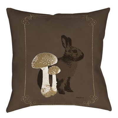 Luxury Lodge Rabbit Indoor/Outdoor Throw Pillow Size: 20 H x 20 W x 5 D