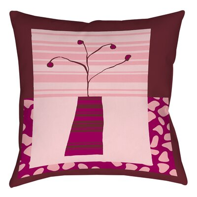 Minimalist Flowers 4 Printed Throw Pillow Size: 16 H x 16 W x 4 D