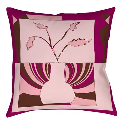 Minimalist Flowers 1 Indoor/Outdoor Throw Pillow Size: 16 H x 16 W x 4 D
