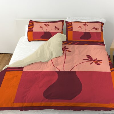 Minimalist Flowers 3 Duvet Cover Size: King
