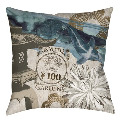 Meditation Gardens 2 Indoor/Outdoor Throw Pillow Size: 18 H x 18 W x 5 D