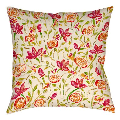 Julias Fancy Printed Throw Pillow Size: 16 H x 16 W x 4 D