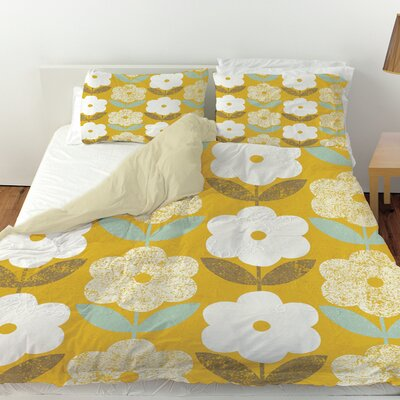 Jar of Sunshine Vintage Duvet Cover Size: King