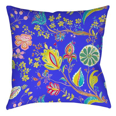 La Roque Summer Floral Printed Throw Pillow Size: 16 H x 16 W x 4 D