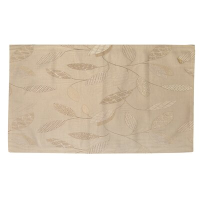 Leaves Narrow Taupe Area Rug Rug size: 4 x 6