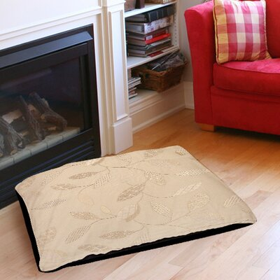 Leaves Narrow Indoor/Outdoor Pet Bed Size: 28 L x 18 W, Color: Taupe