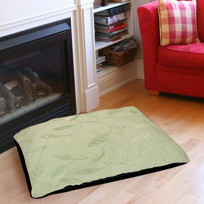 Leaves Narrow Indoor/Outdoor Pet Bed Color: Mint, Size: 50 L x 40 W
