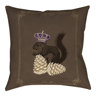 Luxury Lodge Squirrel Indoor/Outdoor Throw Pillow Size: 20 H x 20 W x 5 D