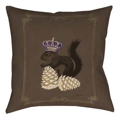 Luxury Lodge Squirrel Printed Throw Pillow Size: 16 H x 16 W x 4 D