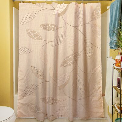 Leaves Narrow Shower Curtain Color: Taupe