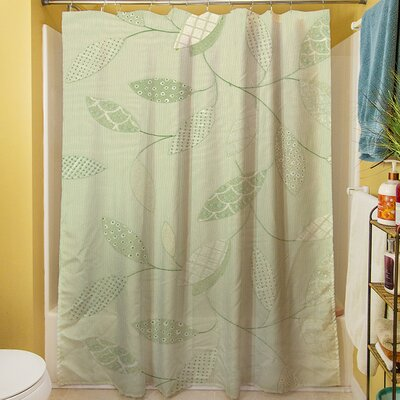 Leaves Narrow Shower Curtain Color: Mint
