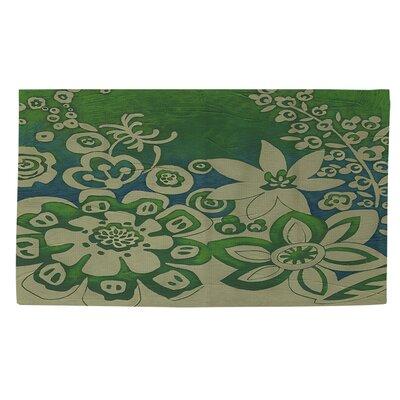 Kyoto Garden 2 Green Area Rug Rug size: 4 x 6