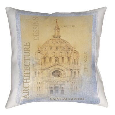 LEglise Indoor/Outdoor Throw Pillow Size: 16 H x 16 W x 4 D