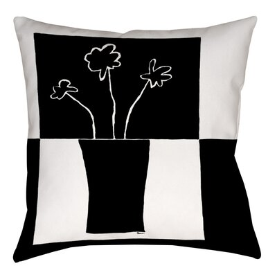 Minimalist Flower in Vase 2 Indoor/Outdoor Throw Pillow Size: 20 H x 20 W x 5 D