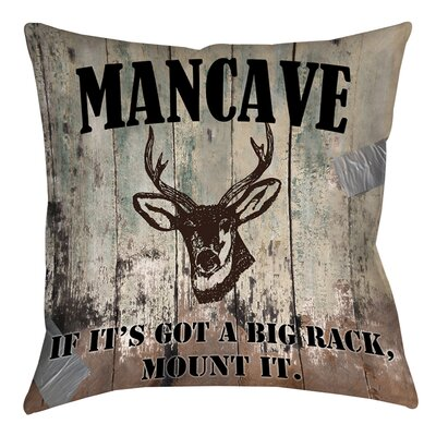 Mancave II Printed Throw Pillow Size: 16 H x 16 W x 4 D