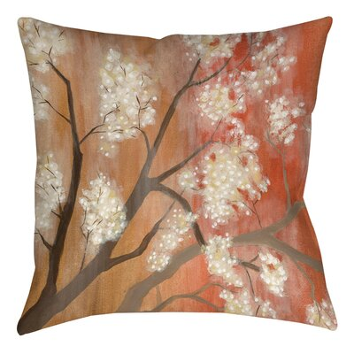 Mandarin Mist 1 Printed Throw Pillow Size: 14 H x 14 W x 3 D