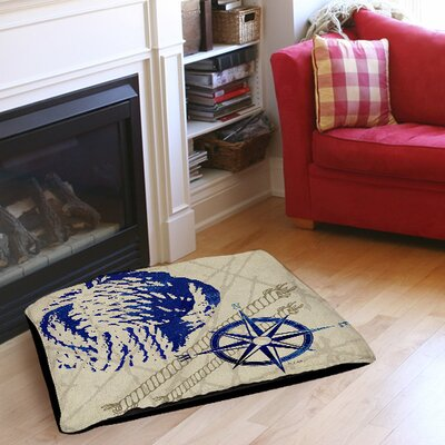 Nautical Rope Indoor/Outdoor Pet Bed Size: 40 L x 30 W