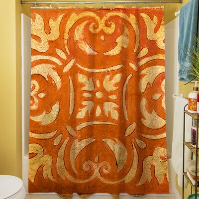 Mosaic Shower Curtain Color: Orange