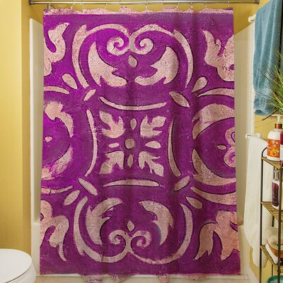 Samford Shower Curtain Color: Purple