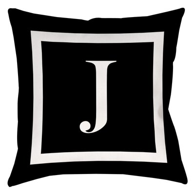 Classic Block Monogram Polyester Throw Pillow by Manual Woodworkers & Weavers