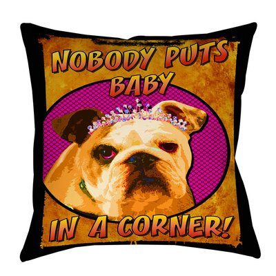 Sassys Dog Baby Indoor/Outdoor Throw Pillow Size: 16
