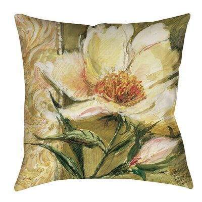 Sketchbook Floral Tulip Printed Throw Pillow Size: 26 H x 26 W x 7 D