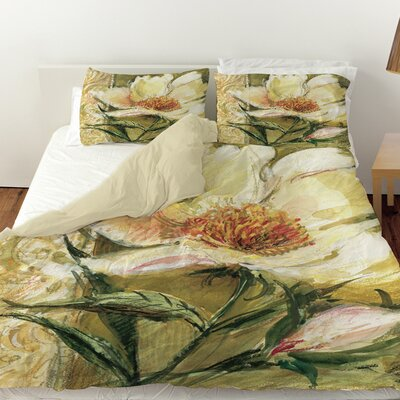 Sketchbook Floral Duvet Cover Size: Twin